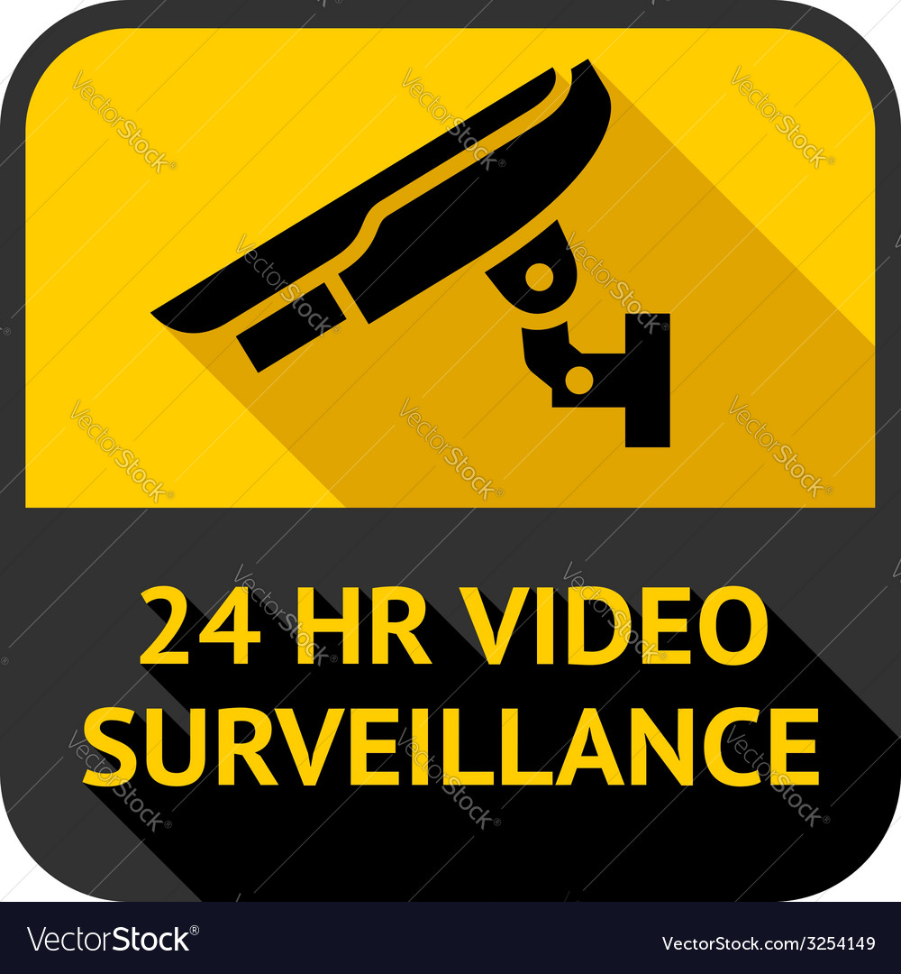 Video surveillance vector | Price: 1 Credit (USD $1)