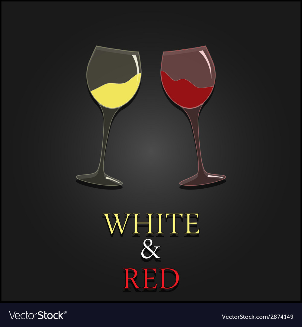 Wine menu two glasses design background vector | Price: 1 Credit (USD $1)