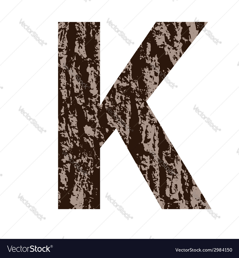 Bark letter k vector | Price: 1 Credit (USD $1)