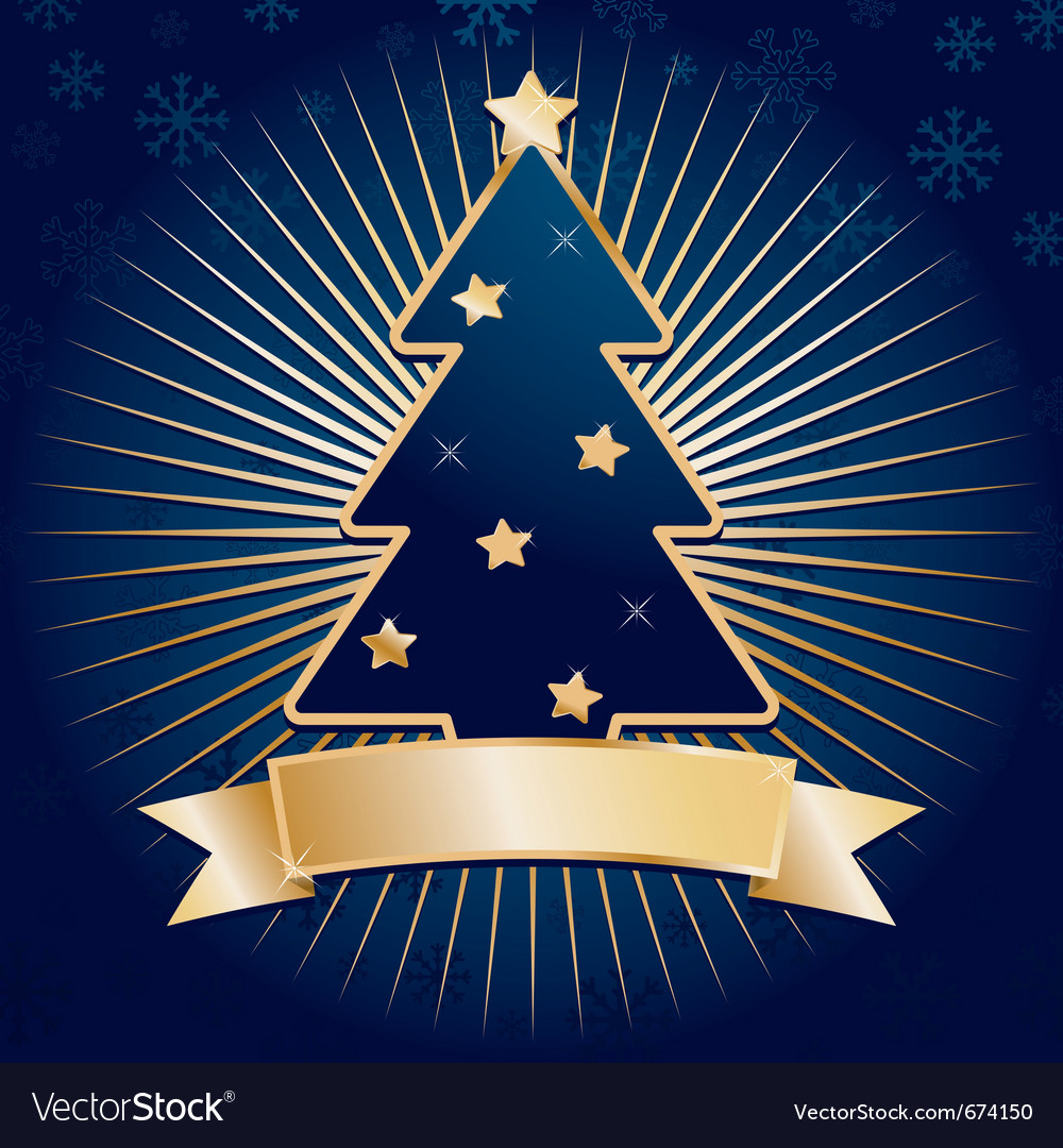 Blue christmas tree vector | Price: 1 Credit (USD $1)