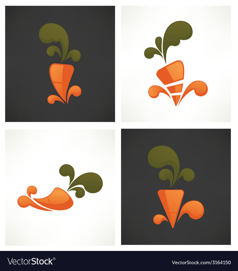 Carrot symbols vector | Price: 1 Credit (USD $1)