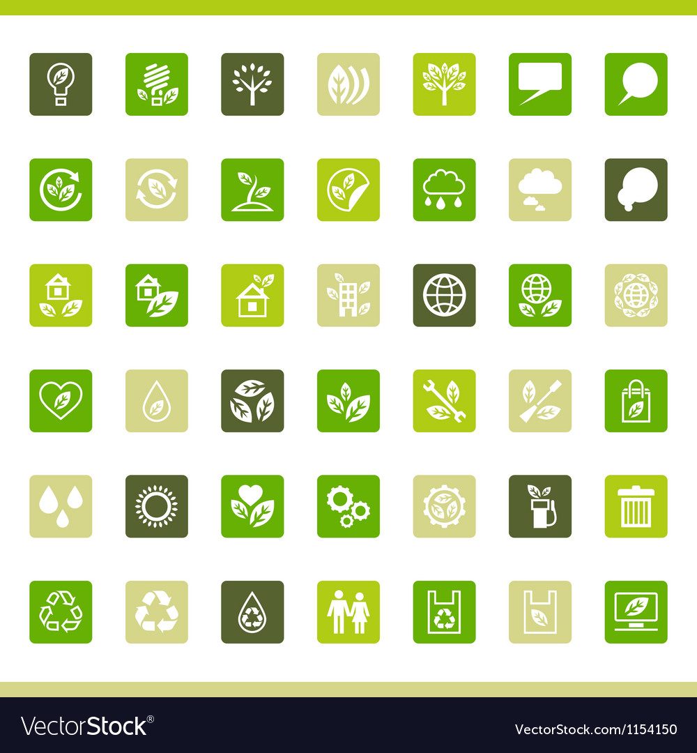 Collection eco web icons vector   Price: 1 Credit (USD $1)