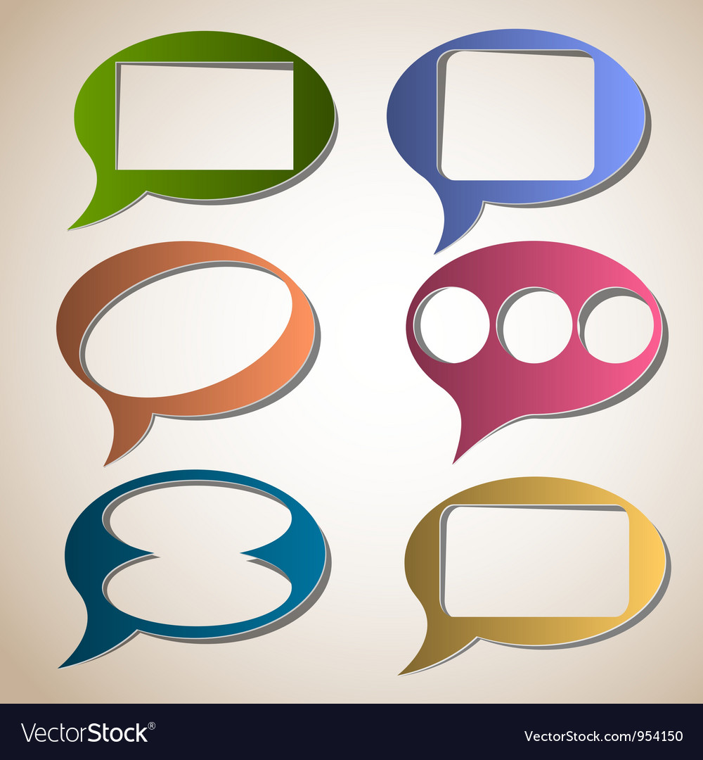 Creative speech bubbles vector | Price: 1 Credit (USD $1)
