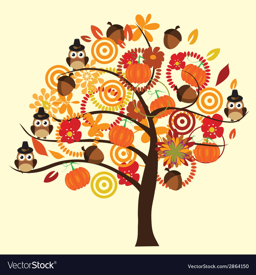 Fall tree vector | Price: 1 Credit (USD $1)