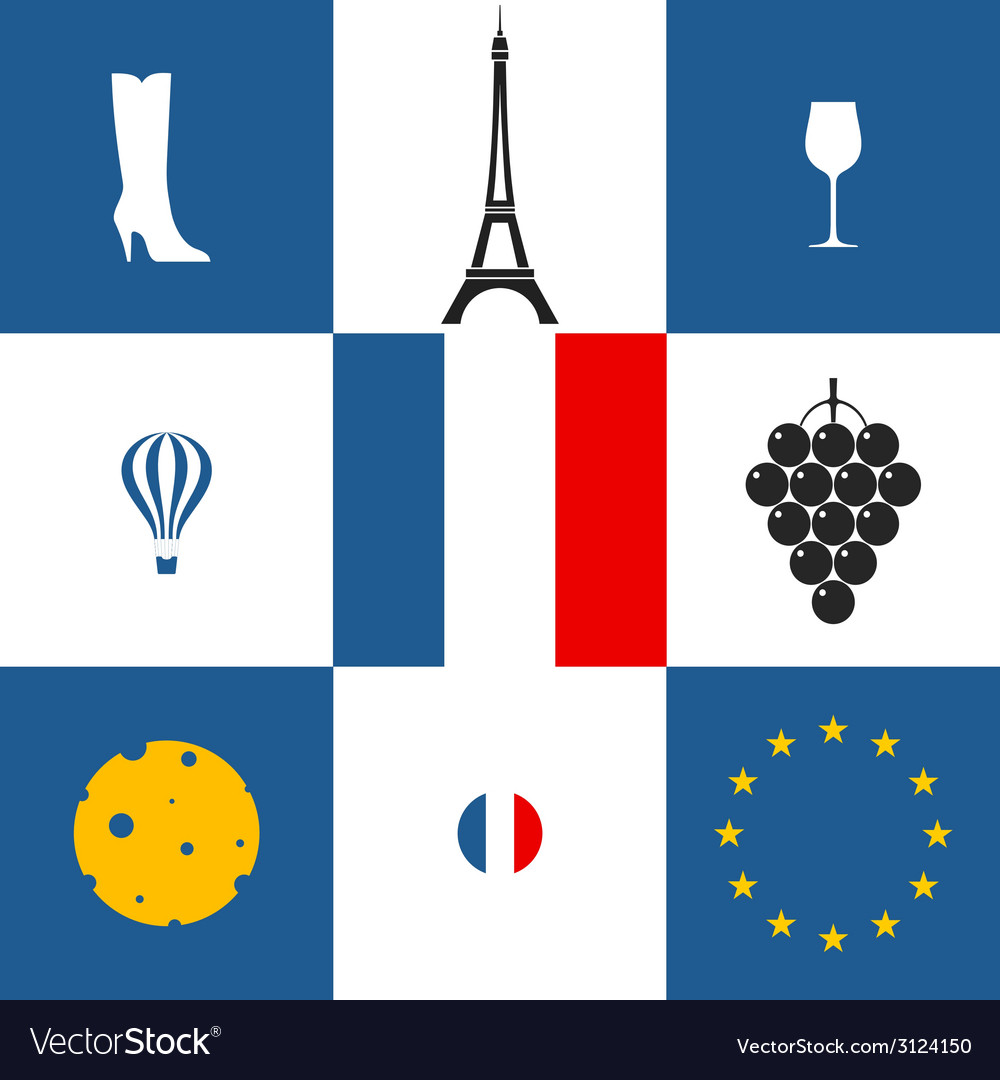 France icon set vector | Price: 1 Credit (USD $1)