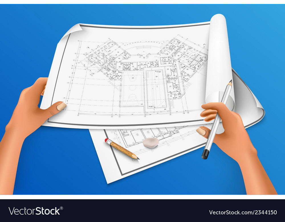 Hand draws a drawing with a pencil vector   Price: 1 Credit (USD $1)