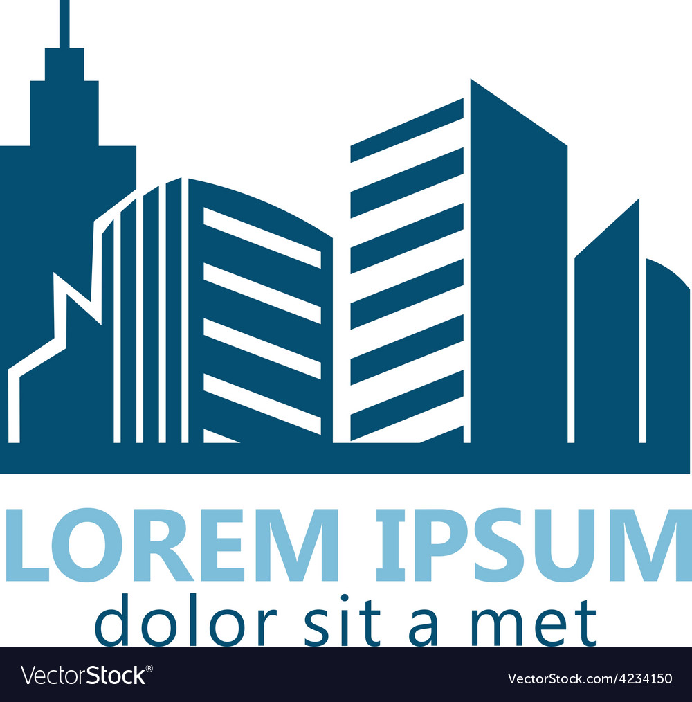 Modern building city logo vector | Price: 1 Credit (USD $1)