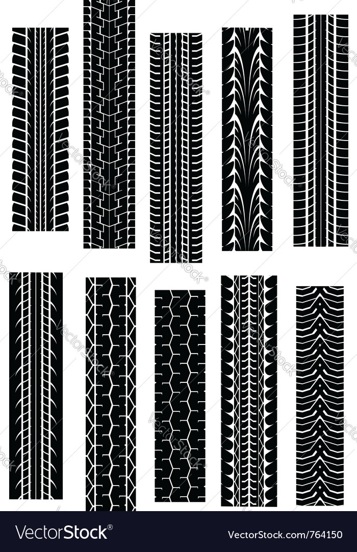 Set of tyre shapes isolated on white background fo vector | Price: 1 Credit (USD $1)