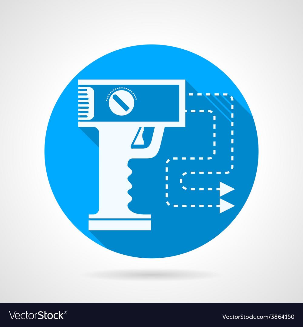 Stun gun flat icon vector | Price: 1 Credit (USD $1)