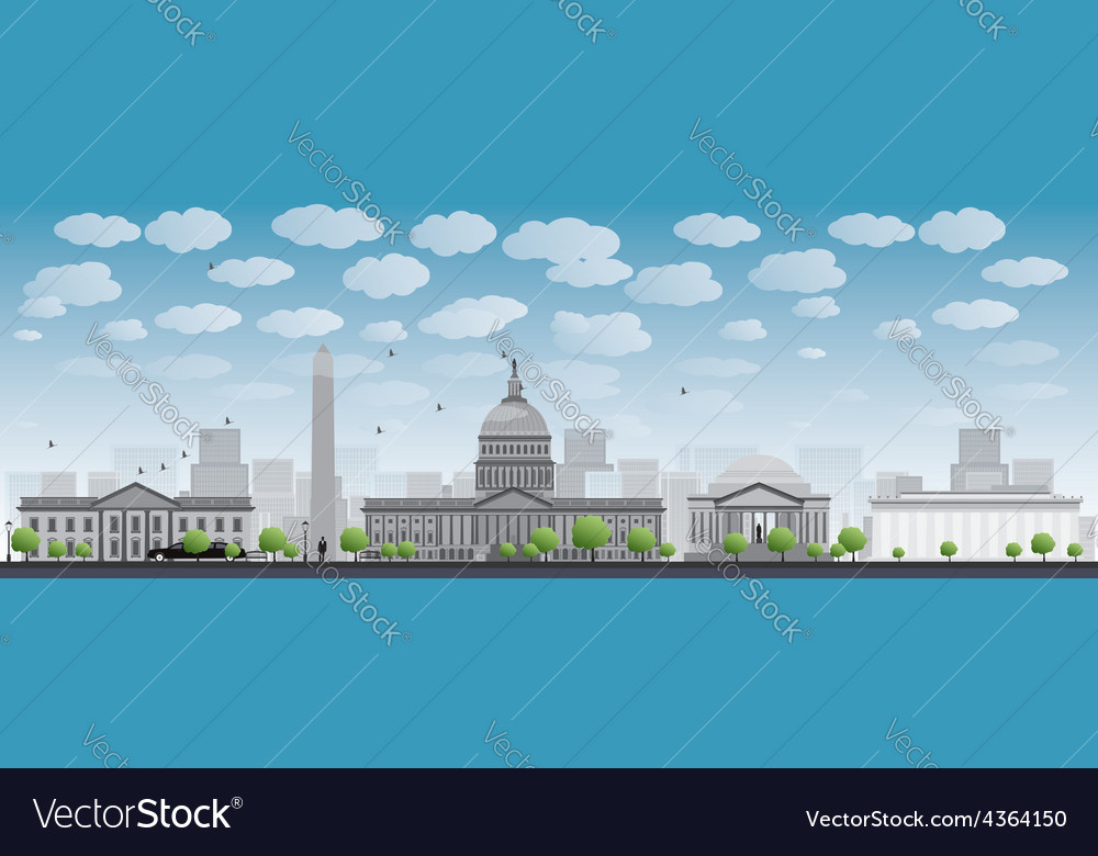 Washington dc city skyline vector | Price: 1 Credit (USD $1)