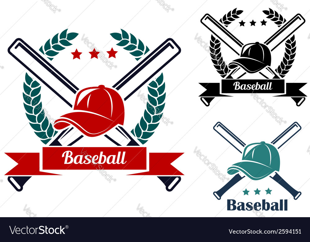 Baseball symbols vector | Price: 1 Credit (USD $1)