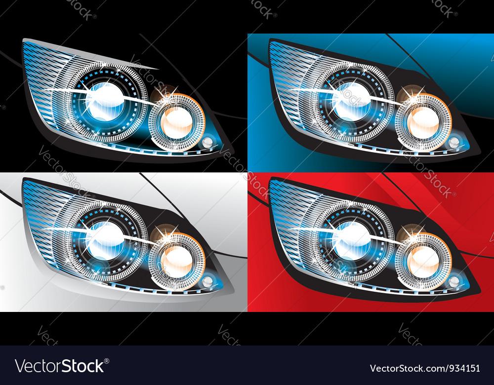 Car headlight vector   Price: 1 Credit (USD $1)