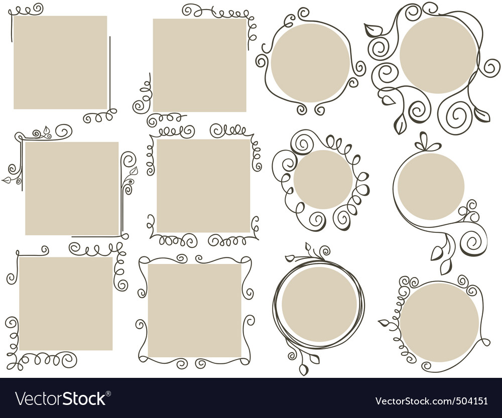 Doodle frames collection vector | Price: 1 Credit (USD $1)
