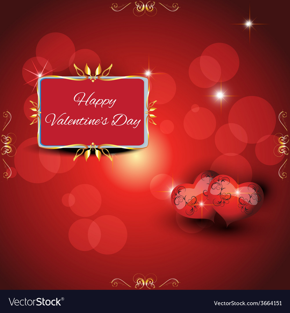Festive greeting card valentines day vector | Price: 1 Credit (USD $1)
