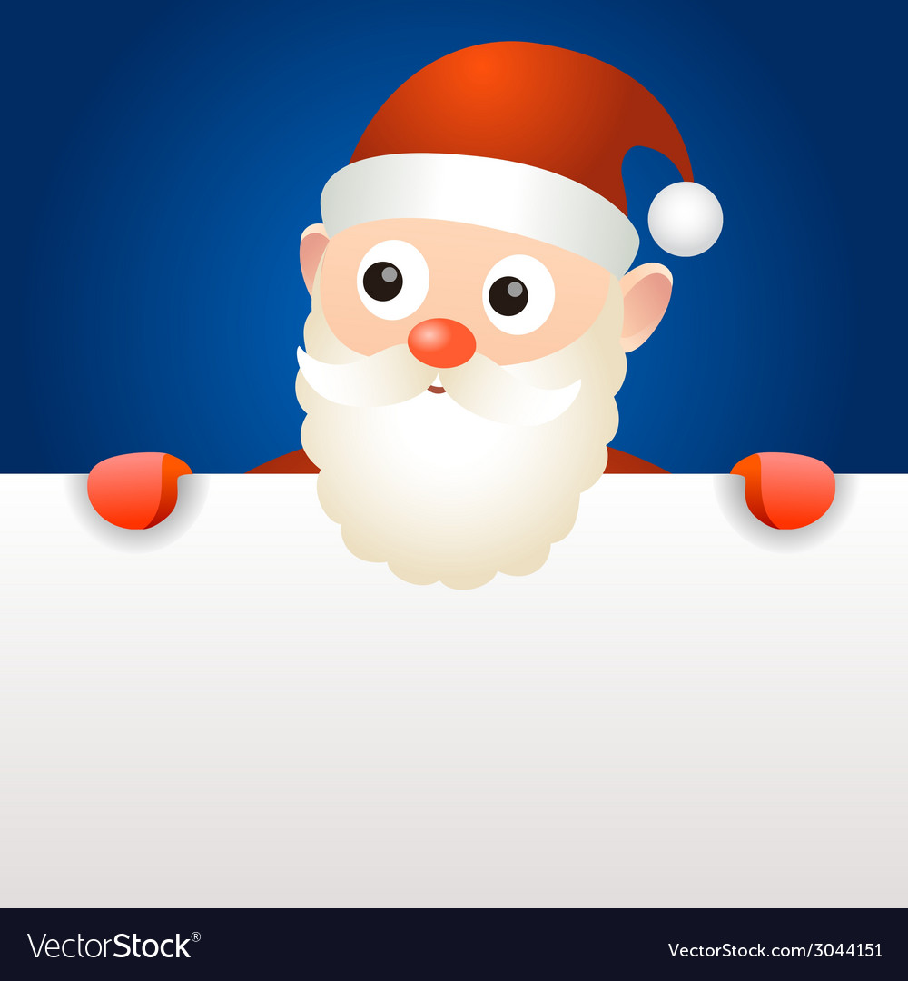 Santa claus holding blank page vector | Price: 1 Credit (USD $1)