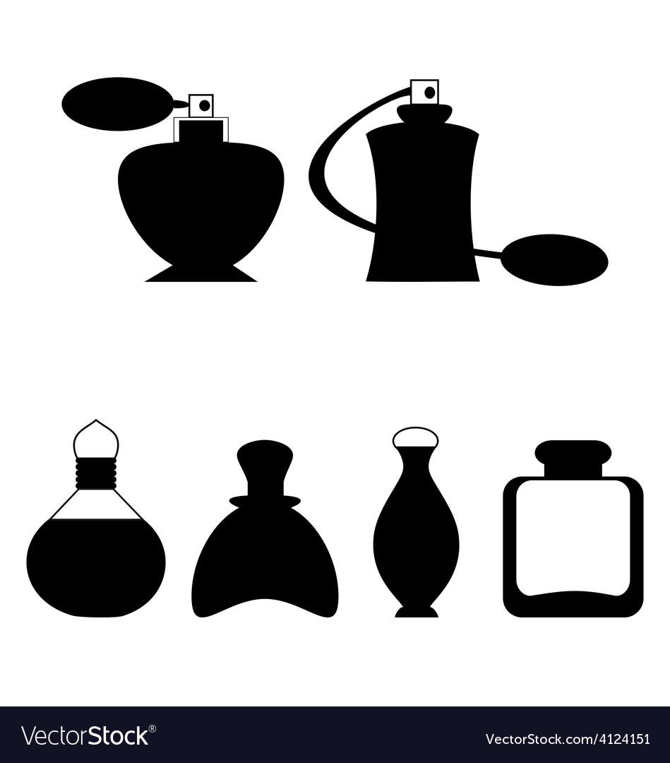 Set of flat woman perfume isolated on white vector | Price: 1 Credit (USD $1)
