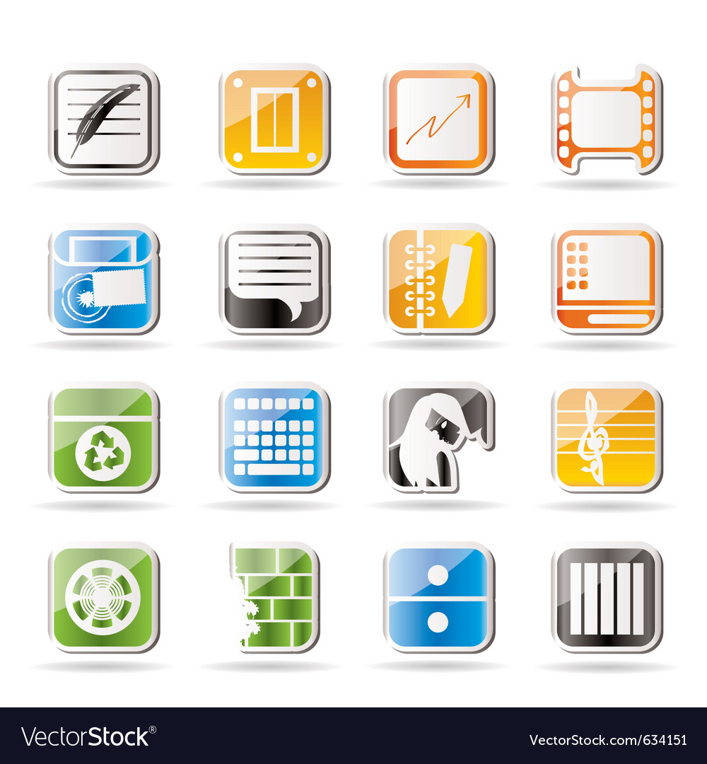 Simple business and mobile phone icons vector | Price: 1 Credit (USD $1)