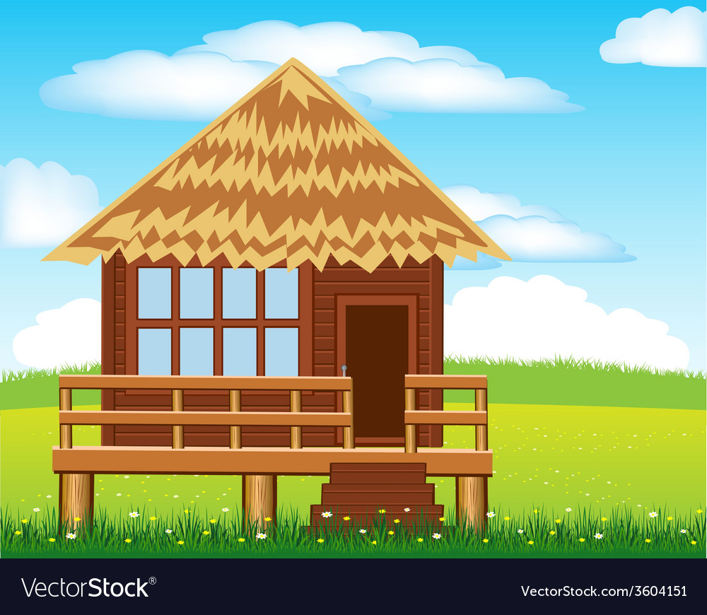 Small lodge on nature vector | Price: 1 Credit (USD $1)