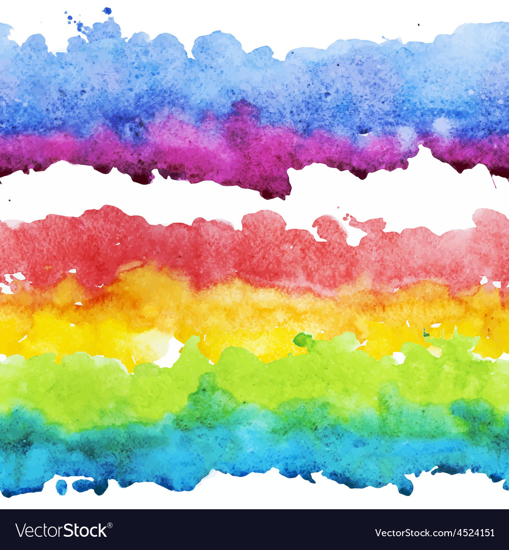 Watercolor colourful stripes vector | Price: 1 Credit (USD $1)