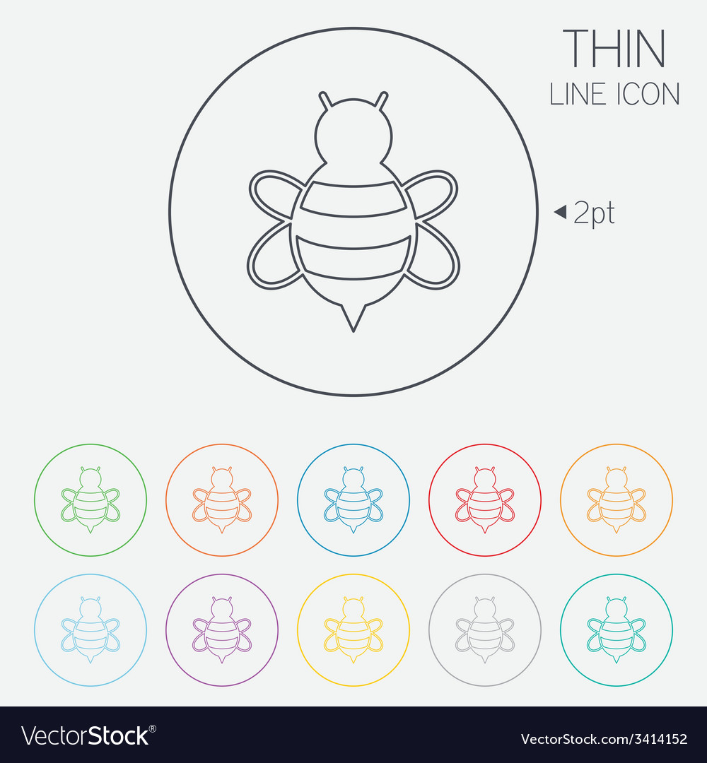 Bee sign icon honeybee or apis symbol vector | Price: 1 Credit (USD $1)