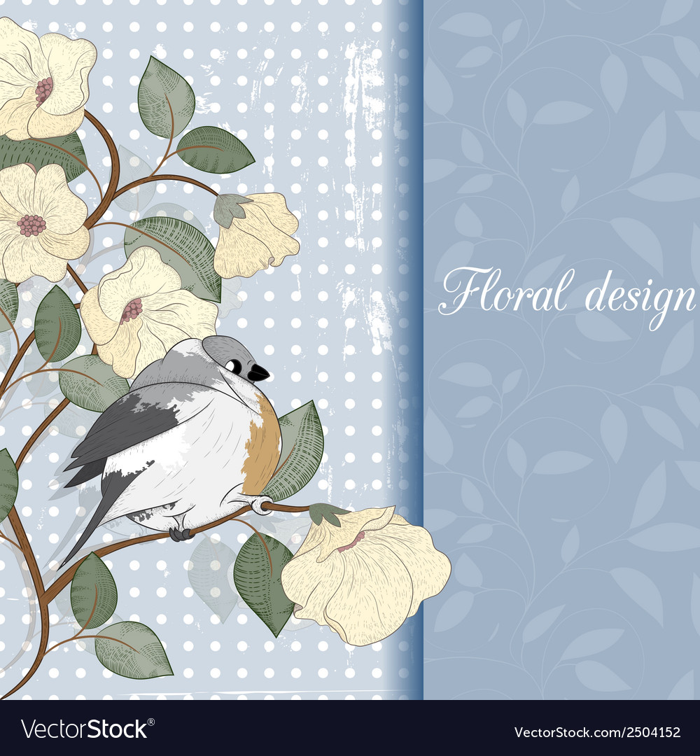 Card with bird can be used for website decoration vector | Price: 1 Credit (USD $1)