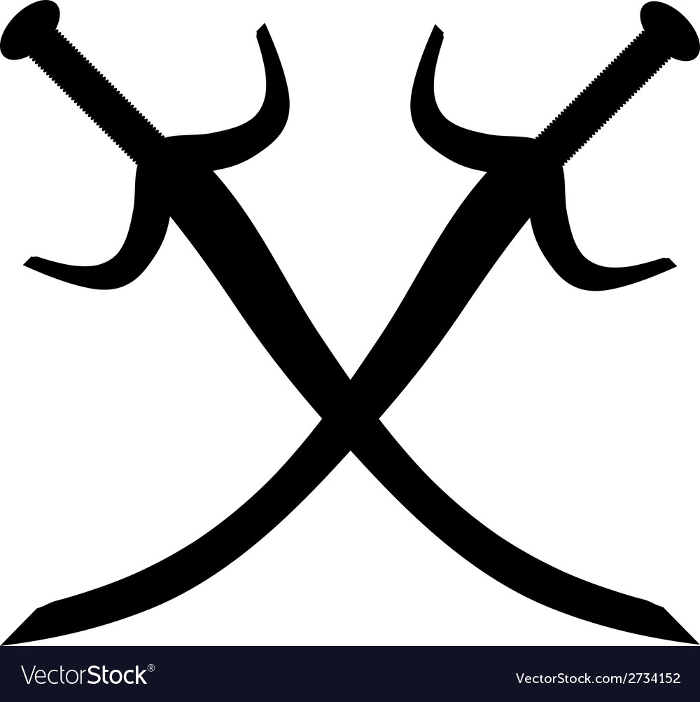 Crossed swords icon vector | Price: 1 Credit (USD $1)