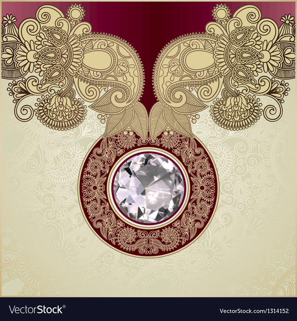 Ornate diamond luxury background vector | Price: 1 Credit (USD $1)