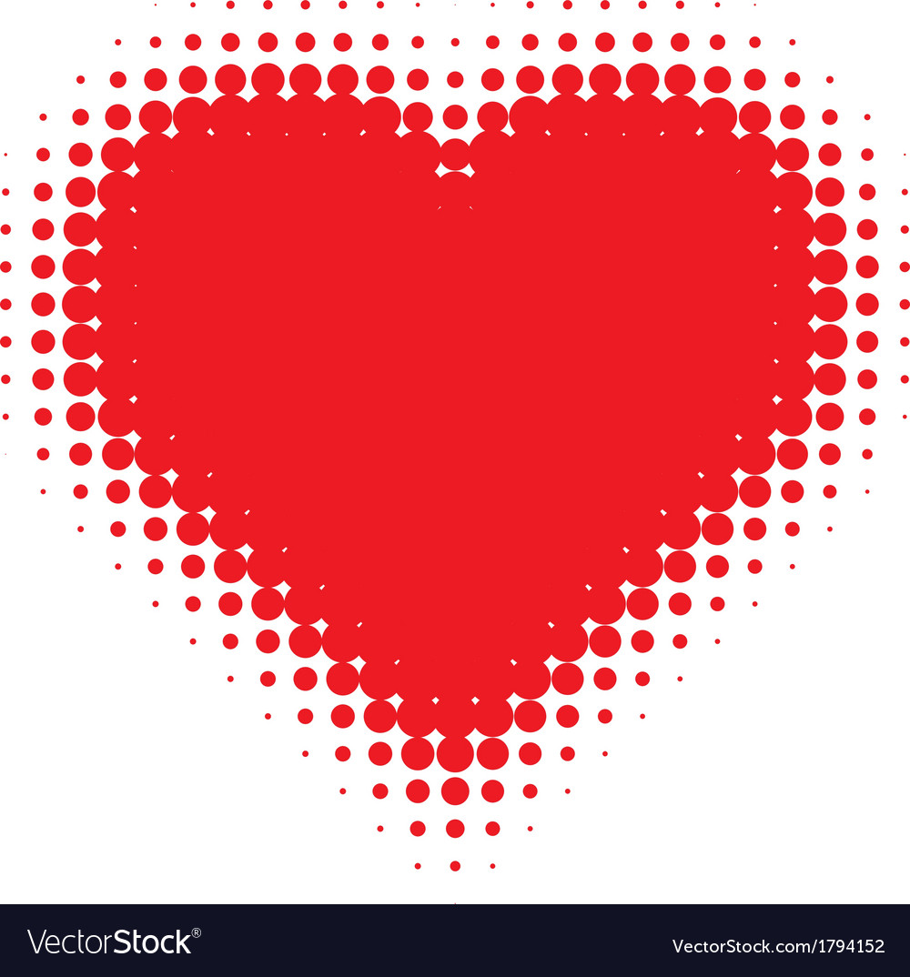 Red heart on canvas texture vector | Price: 1 Credit (USD $1)