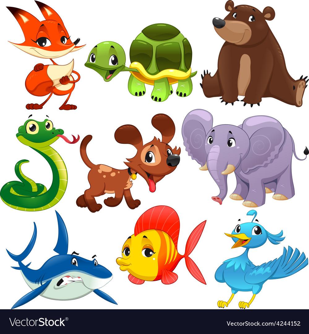 Set of animals vector | Price: 1 Credit (USD $1)