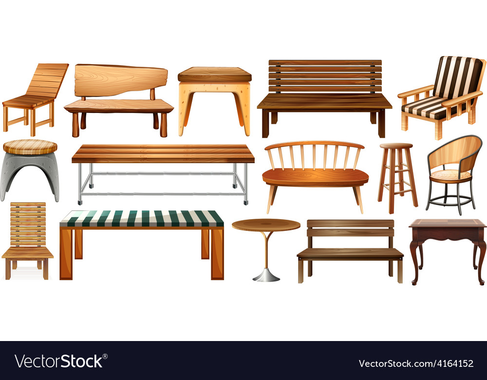 Set of furnitures vector | Price: 1 Credit (USD $1)