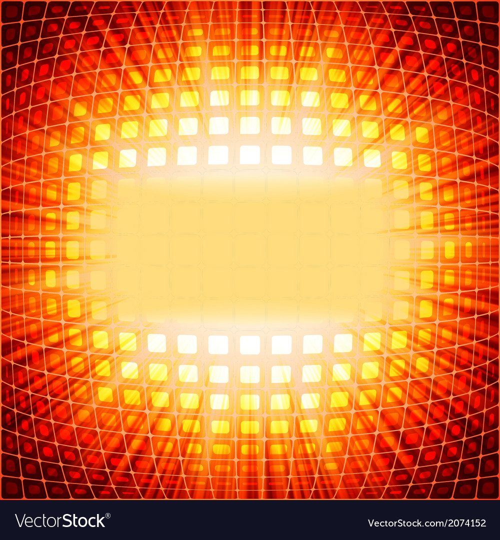 Technology squares with red flare burst eps 10 vector | Price: 1 Credit (USD $1)