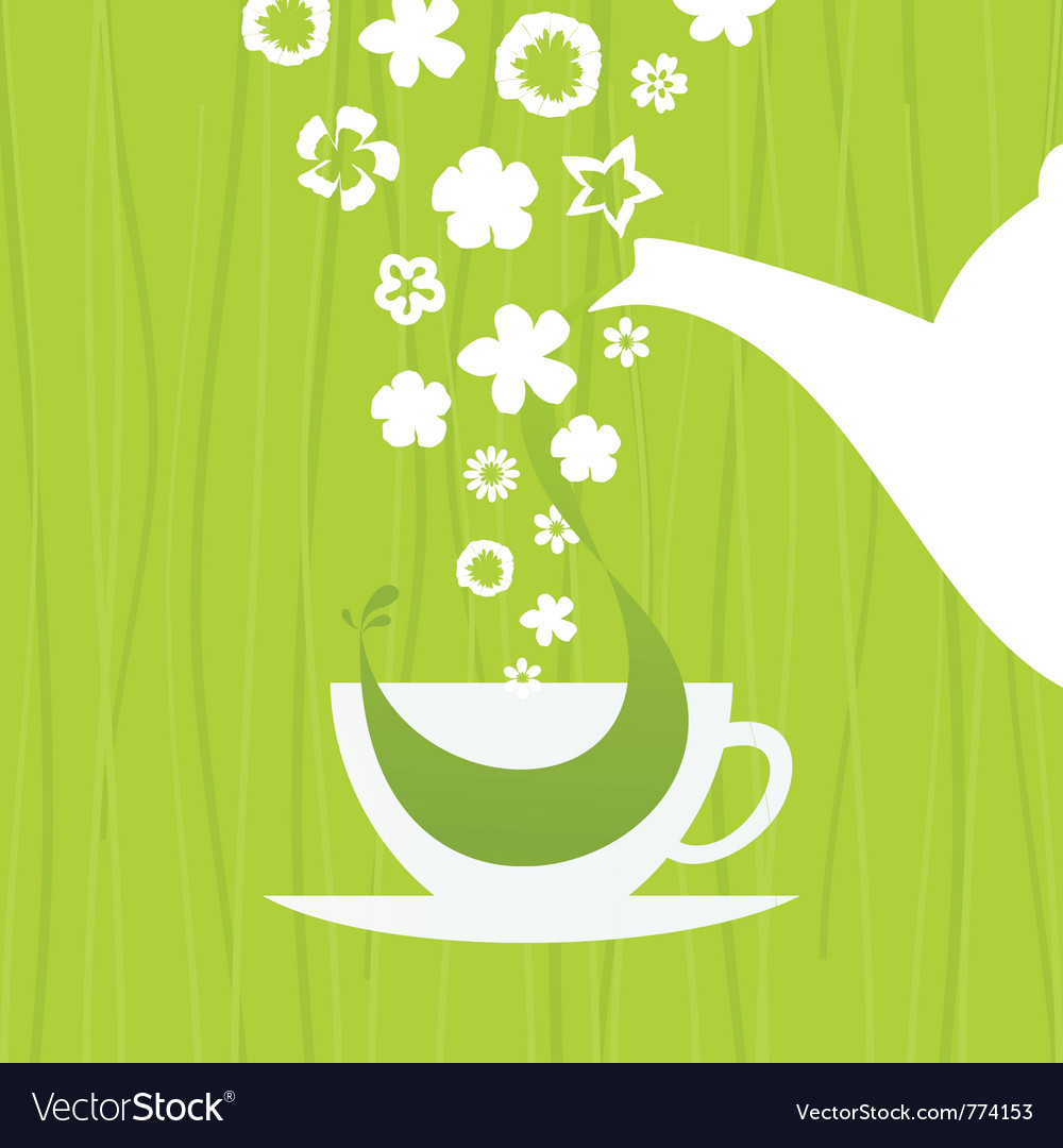 A cup green tea vector | Price: 1 Credit (USD $1)