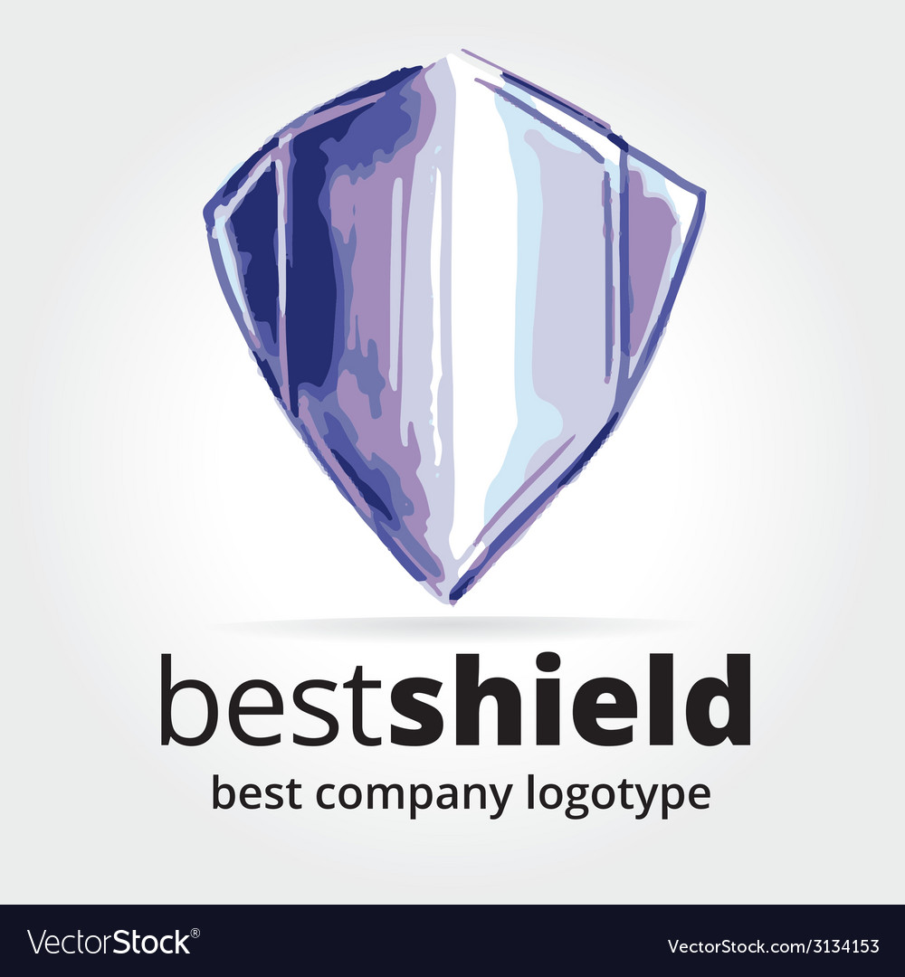 Abstract shield logotype concept isolated on white vector | Price: 1 Credit (USD $1)