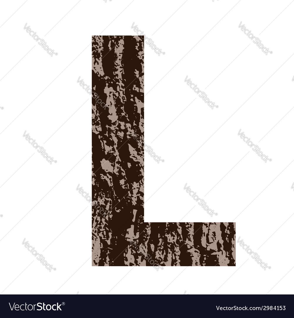 Bark letter l vector | Price: 1 Credit (USD $1)