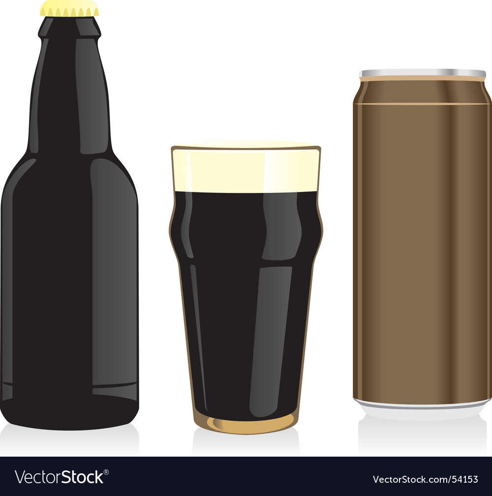 Beer bottle glass and can vector | Price: 1 Credit (USD $1)