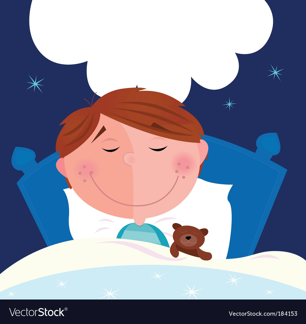 Boy sleeping vector | Price: 1 Credit (USD $1)