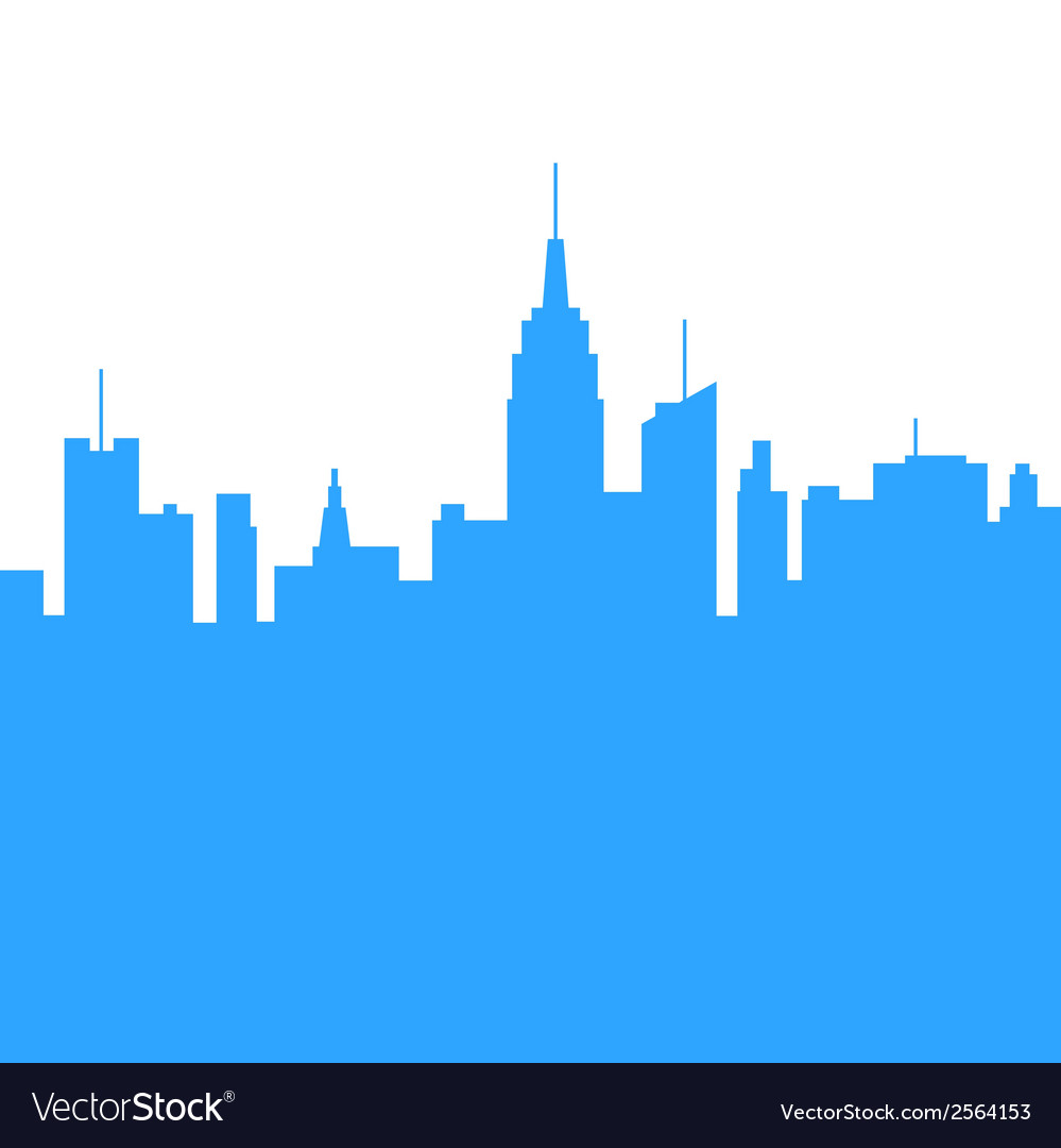 City skylines silhouette background vector | Price: 1 Credit (USD $1)