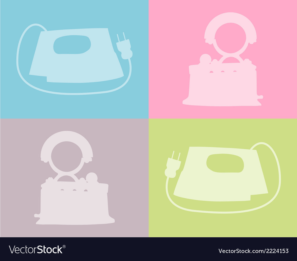 Flat iron vector | Price: 1 Credit (USD $1)