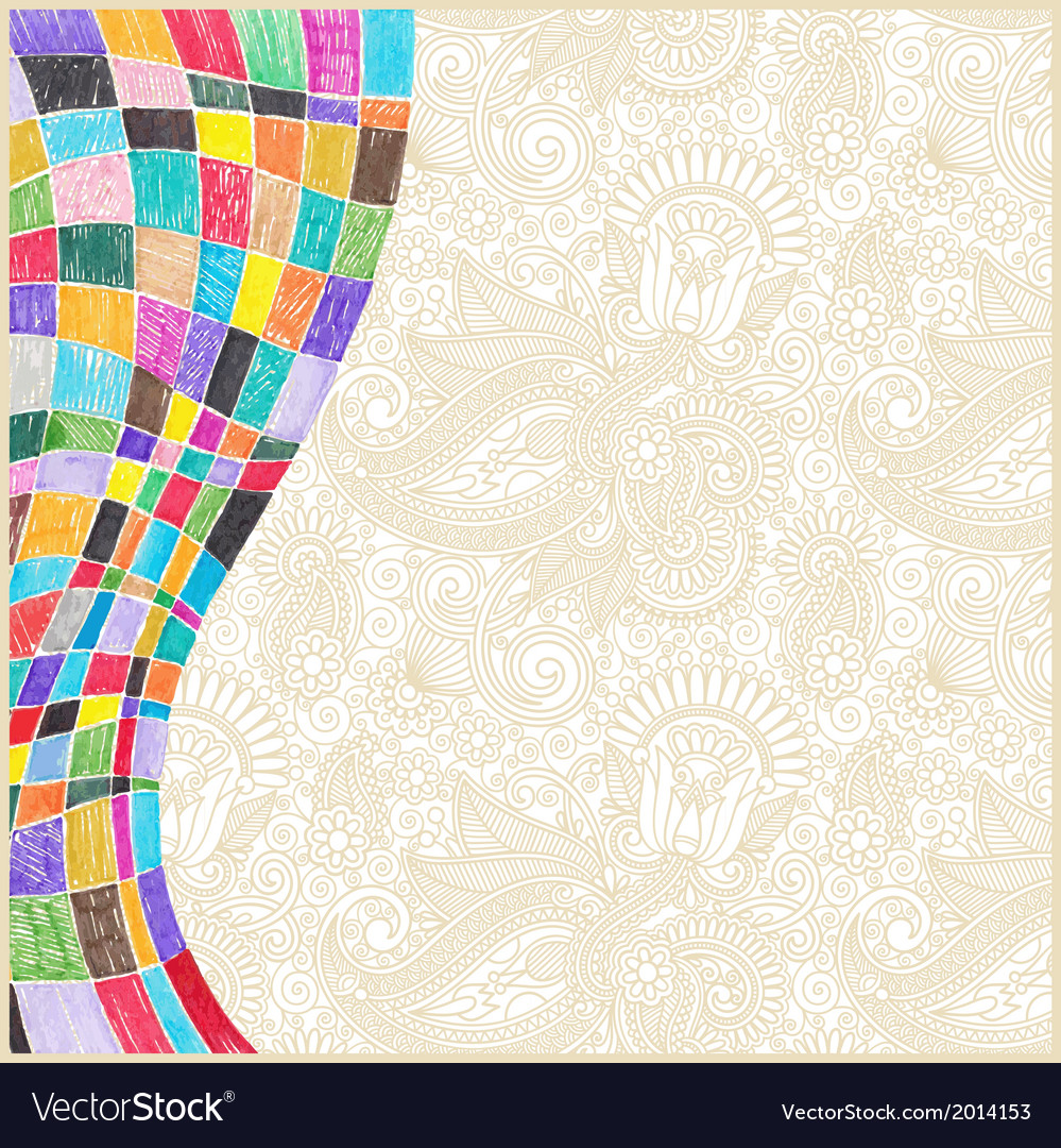 Marker drawing abstract background vector | Price: 1 Credit (USD $1)