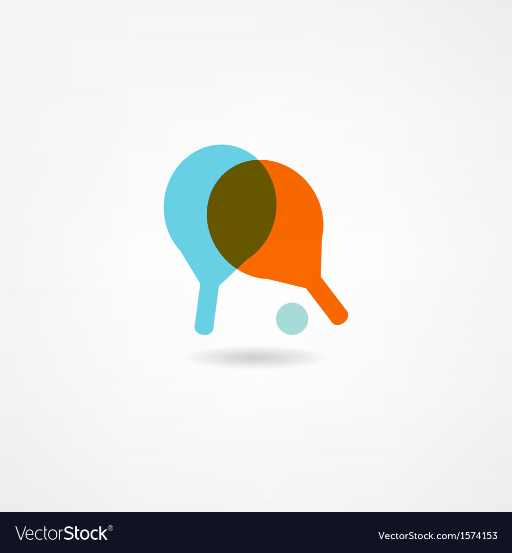 Ping pong icon vector | Price: 1 Credit (USD $1)