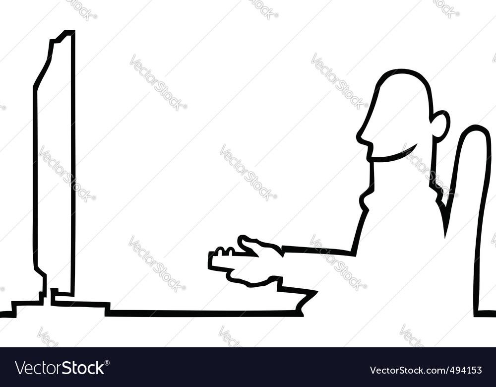 Television watcher vector | Price: 1 Credit (USD $1)
