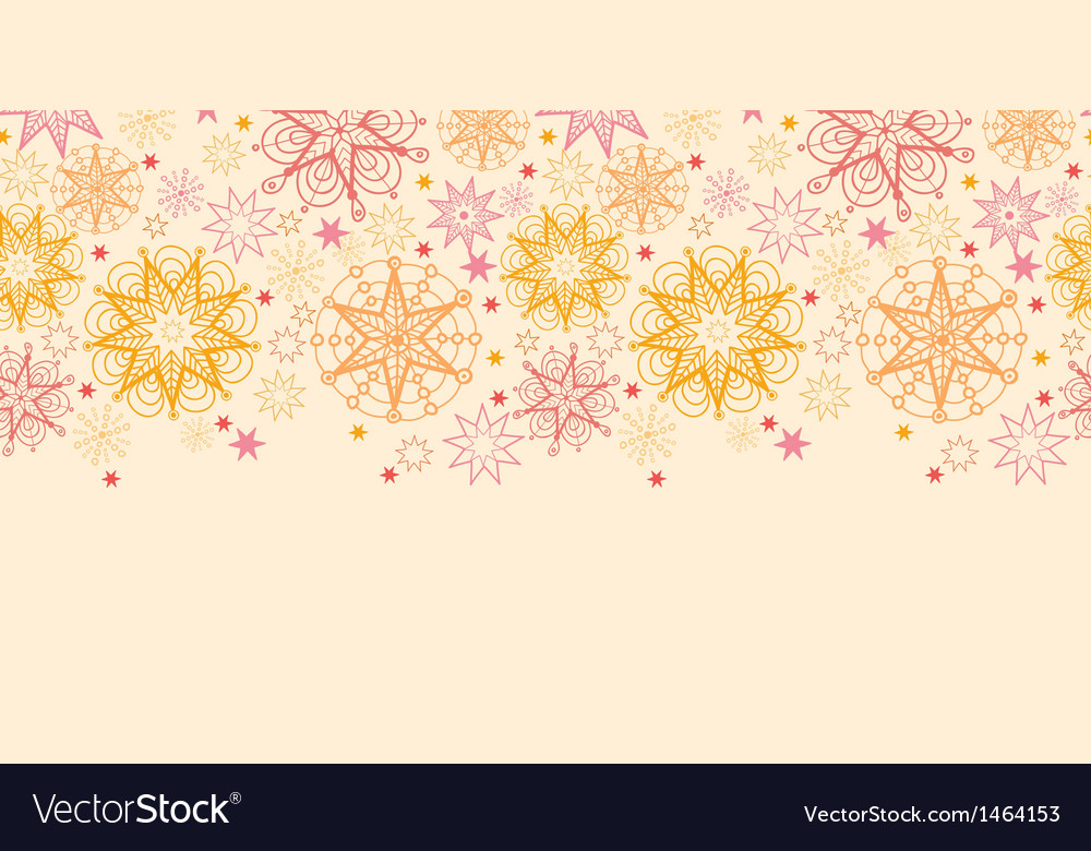 Warm stars horizontal seamless pattern background vector | Price: 1 Credit (USD $1)