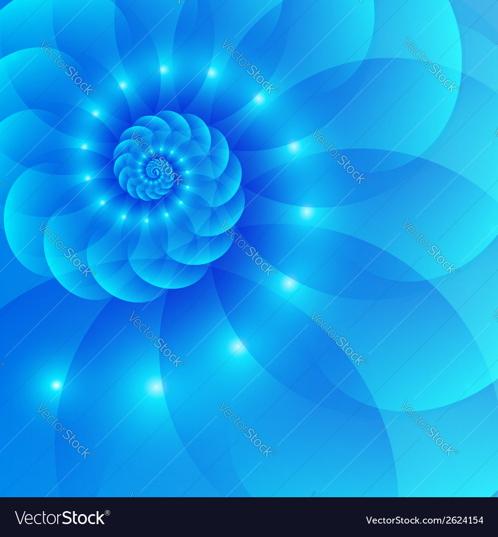 Blue spiral abstract background vector | Price: 1 Credit (USD $1)