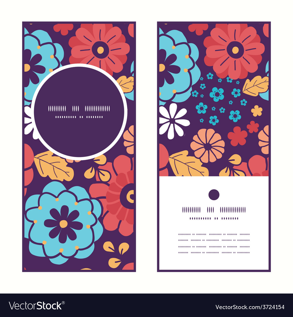 Colorful bouquet flowers vertical round vector | Price: 1 Credit (USD $1)