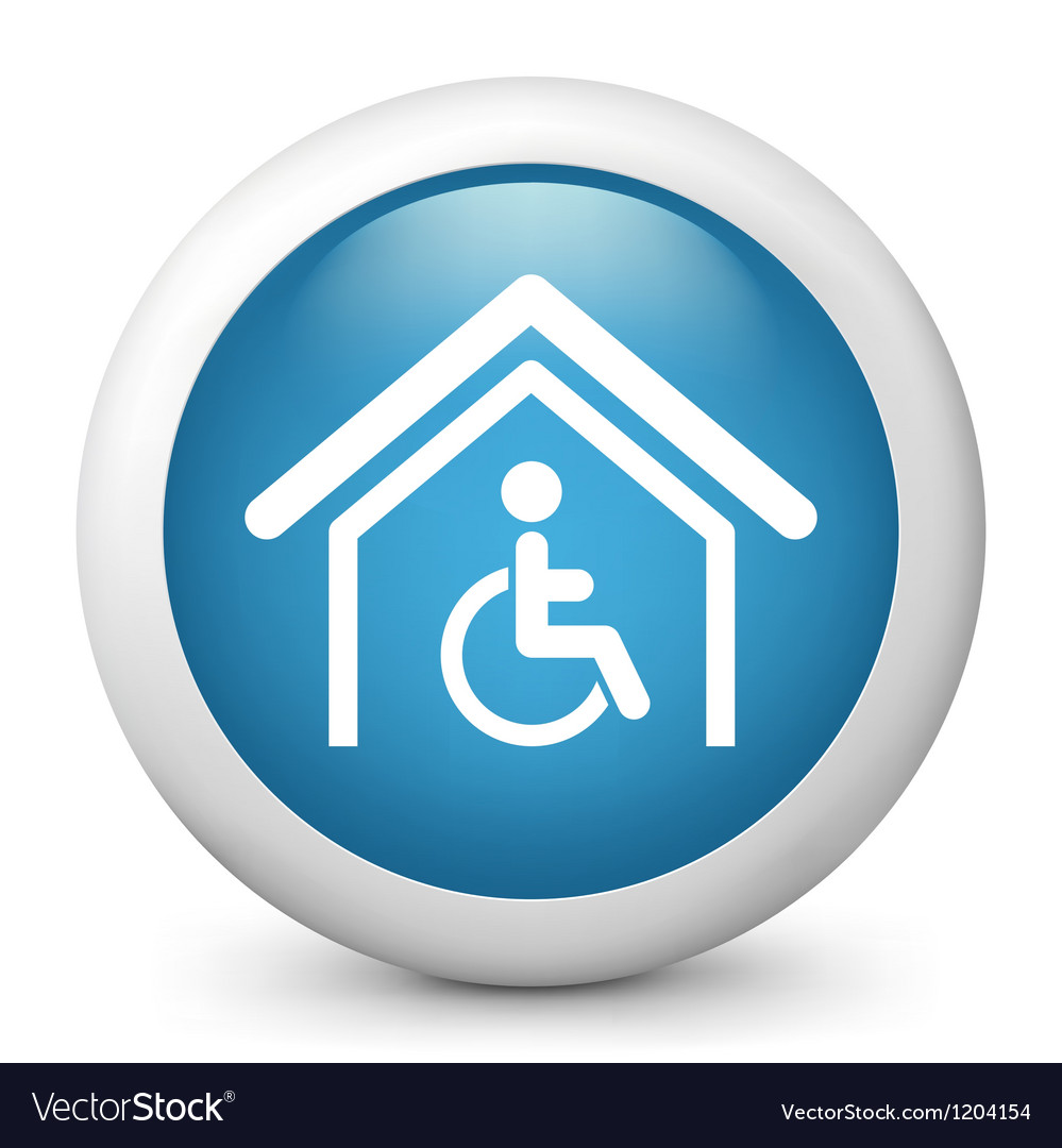 Disability glossy icon vector | Price: 1 Credit (USD $1)