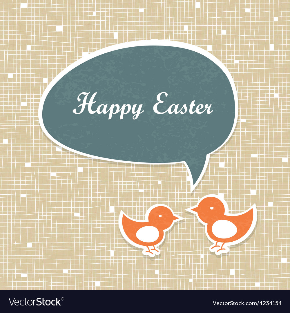 Easter card design retro vector | Price: 1 Credit (USD $1)