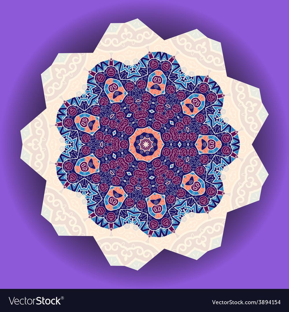Mandala design ethnic ornament template for menu vector   Price: 1 Credit (USD $1)