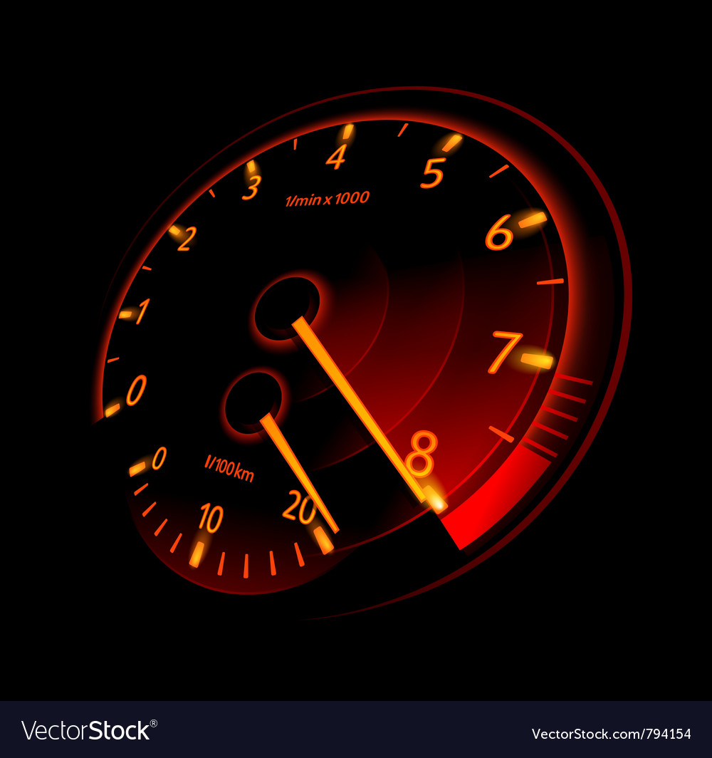 Tachometer vector | Price: 3 Credit (USD $3)