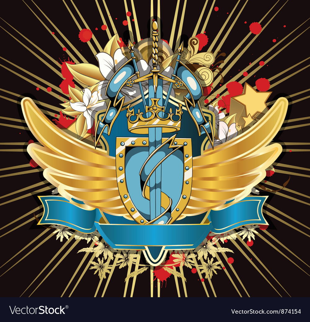 Vintage crest vector | Price: 1 Credit (USD $1)