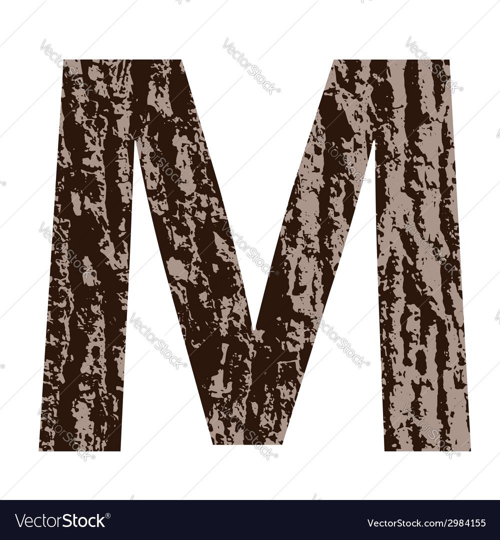 Bark letter m vector | Price: 1 Credit (USD $1)